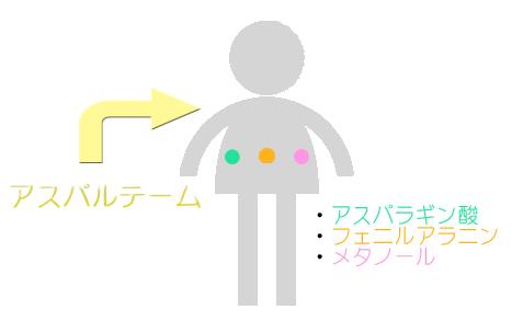 アスパルテーム 体内で分解