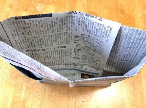 新聞紙の手作りゴミ袋 作り方 (7)