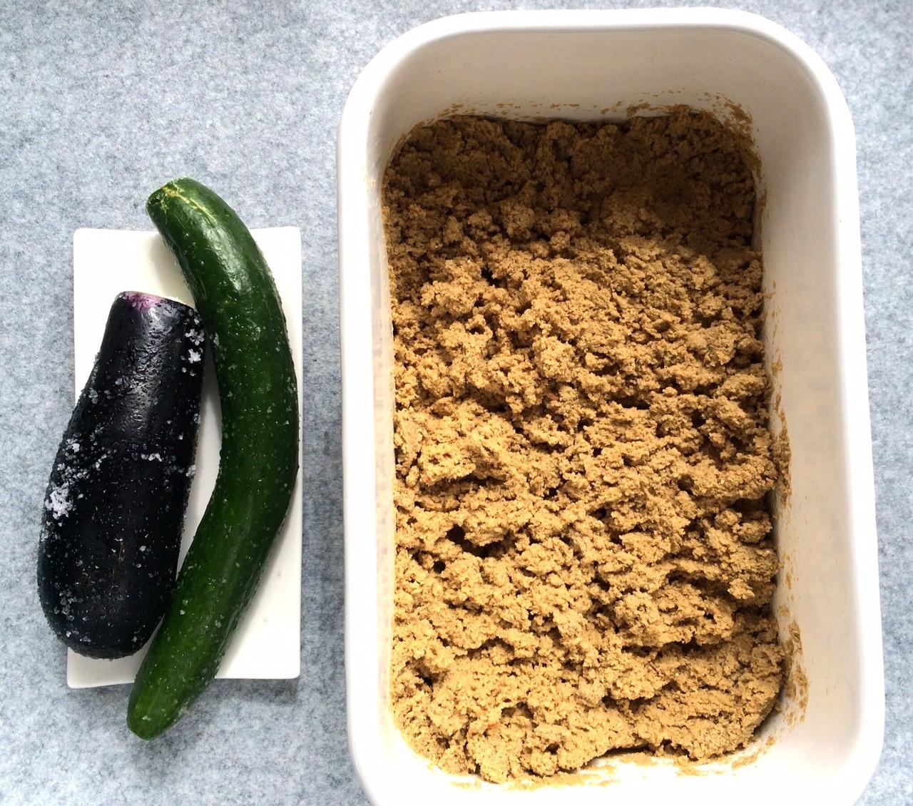 糠床と野菜