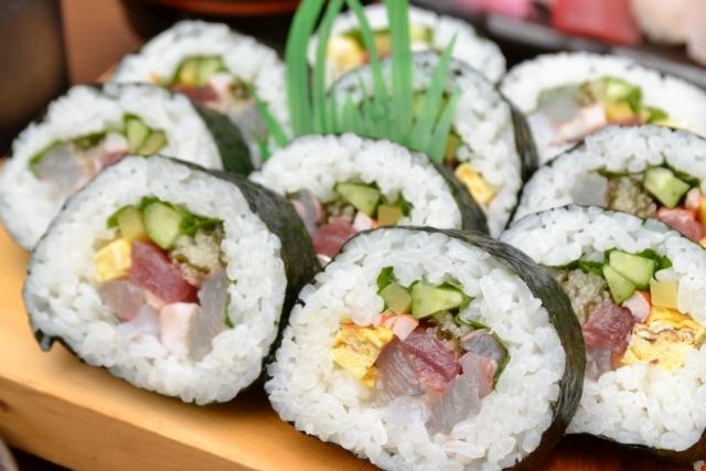 巻き寿司は具材が多くなるほど添加物が増えていく