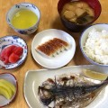 一般的な和食の朝食