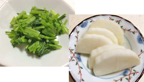 冬野菜の簡単漬け物レシピ♪大根の焼酎漬け&壬生菜の塩漬け