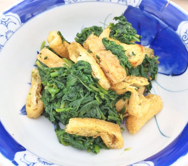 菊菜と油揚げの和え物