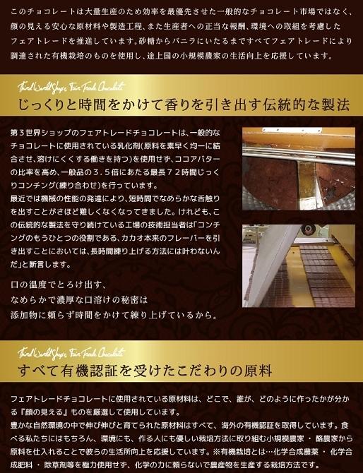 第3世界ショップ チョコレートの原材料