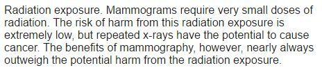 マンモグラフィー 繰り返されるX線 がん