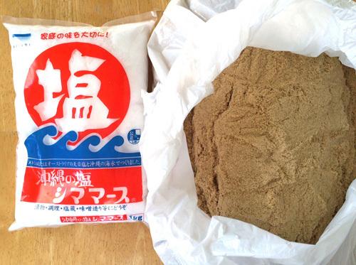 たくあん漬け レシピ 米糠と塩
